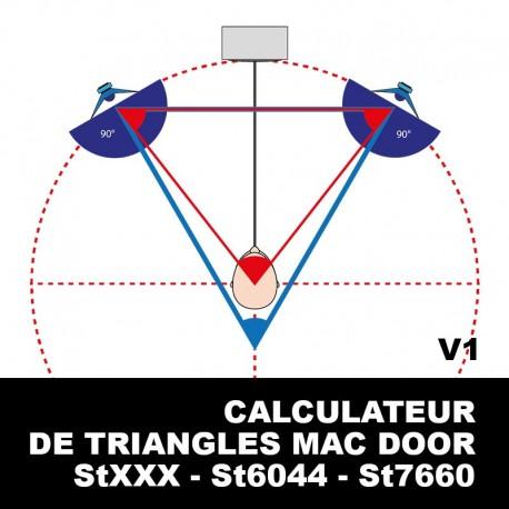 CALCULATEUR Triangles Mac Door