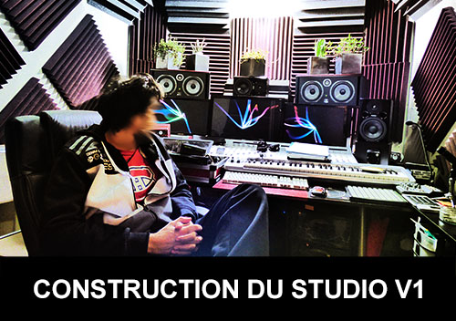 Construction du Studio d'Andy Mac Door Home studio