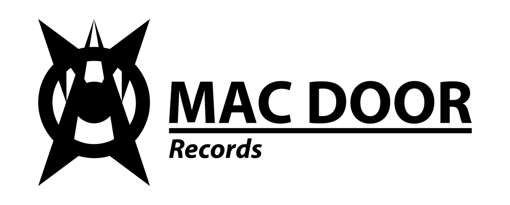 Mac Door Records - Official Logo - black ON white - 1000x403