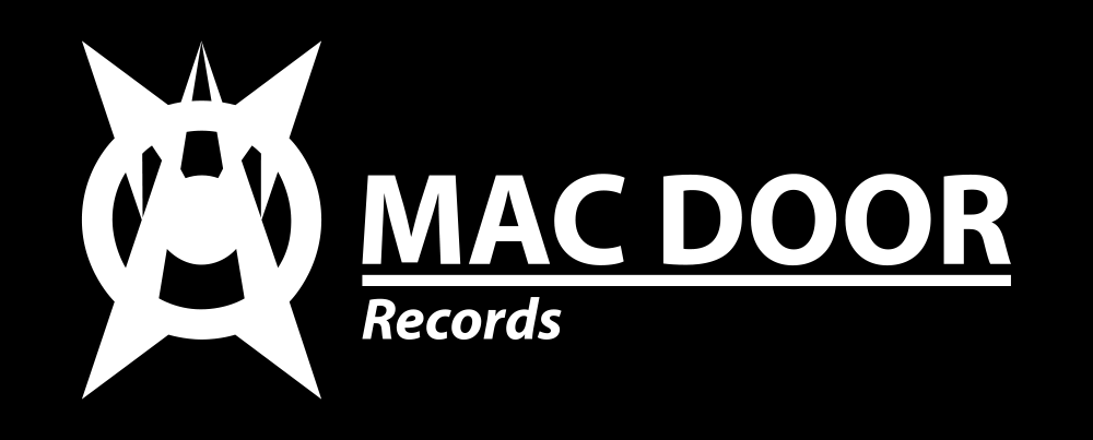 Mac Door Records - Official Logo - white ON black - 1000x403