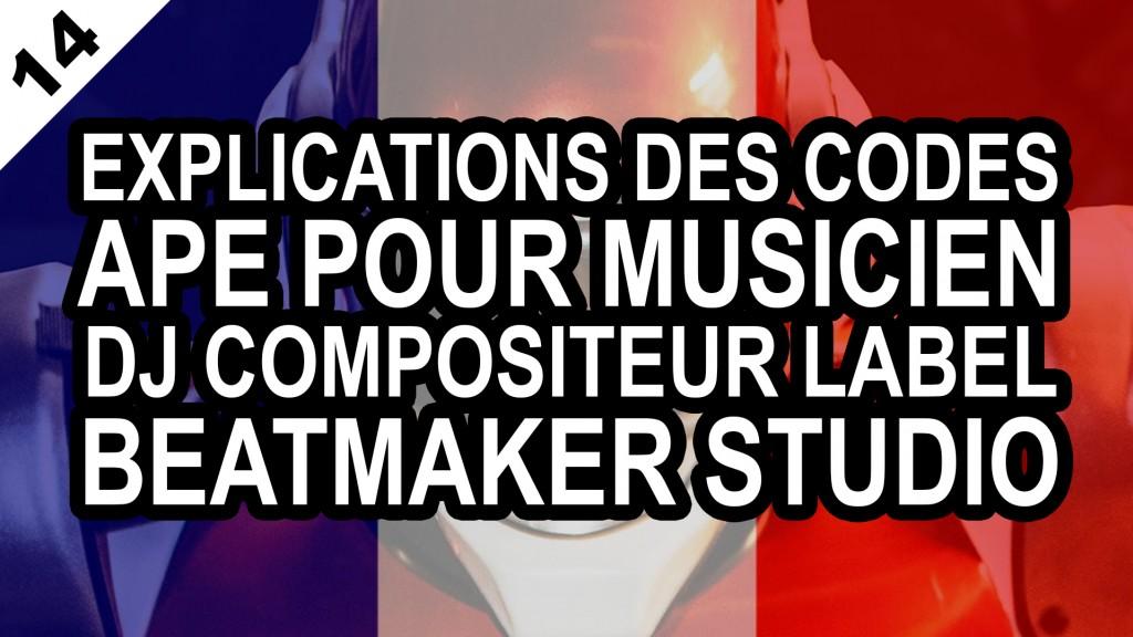 Explications Des Codes Ape Susceptibles De Convenir Pour Un Musicien